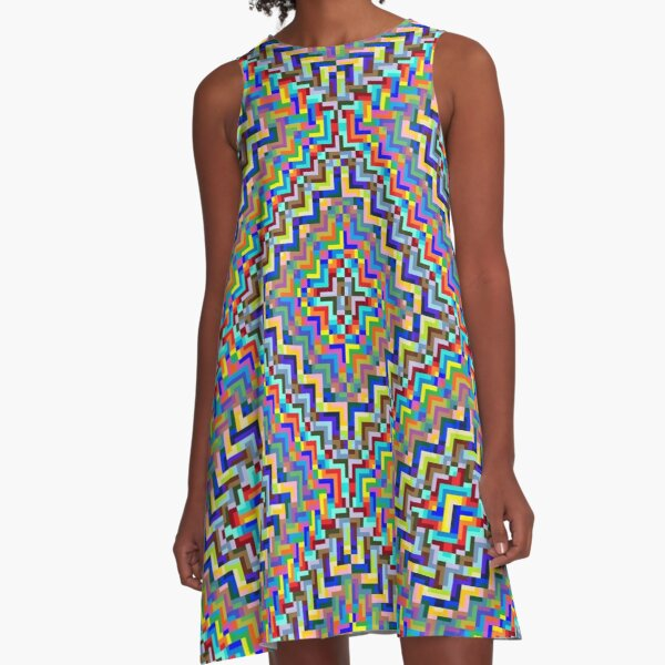 Psychedelic Hypnotic Visual Illusion A-Line Dress
