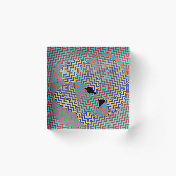 Psychedelic Hypnotic Visual Illusion Acrylic Block