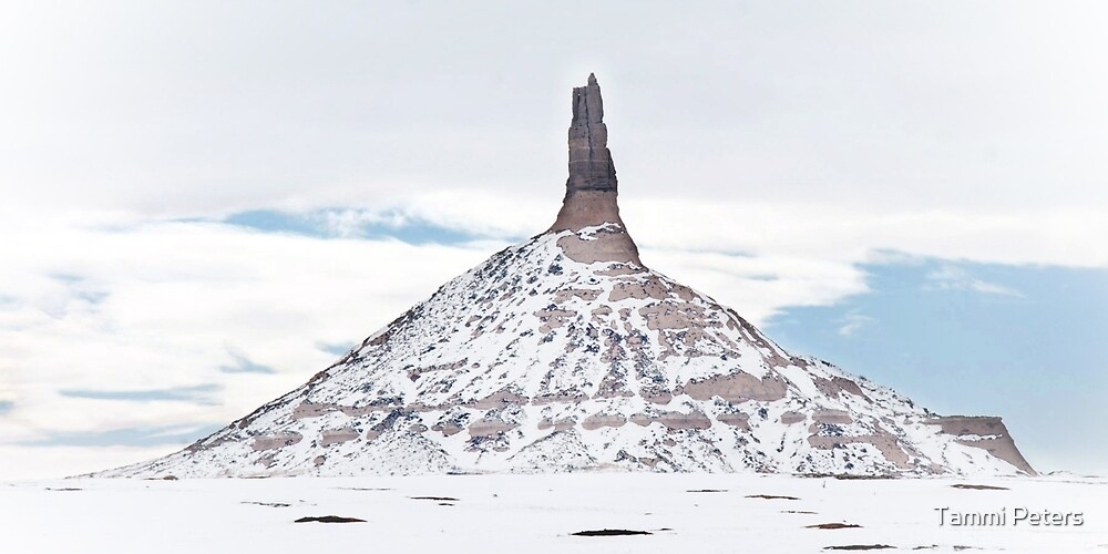 Winter at Chimney Rock by Tammi Peters