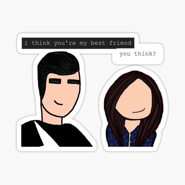 David and Stevie - BFF Sticker
