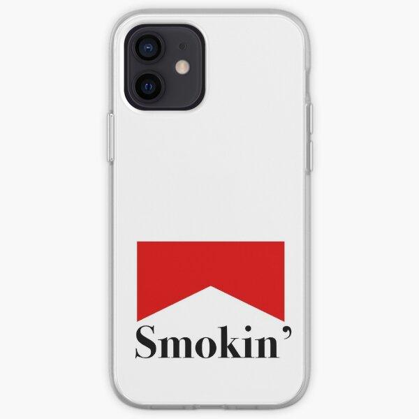 Autocollant d'étiquette de cigarette rouge Smokin ' Coque souple iPhone