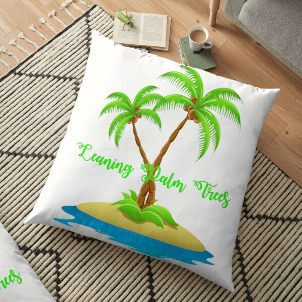 Leaning Palm Trees Floor Pillow
