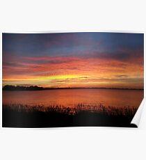 Johnson Lake at Sunset in Central Nebraska Poster