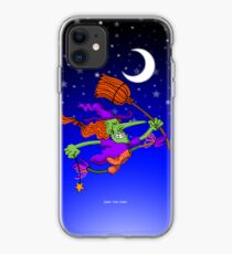 Crazy Witch Jumping iPhone Case