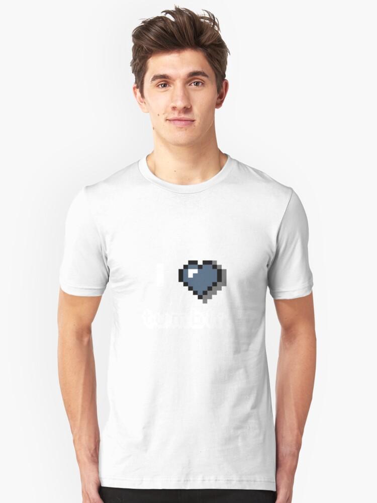 I <3 tumblr. Unisex T-Shirt Front