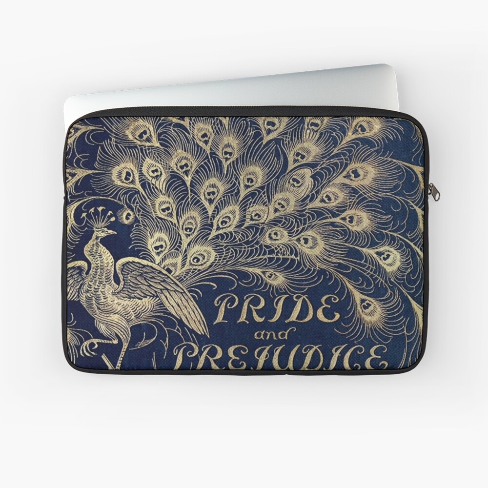 Pride and Prejudice Peacock Cover Laptop Sleeve