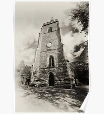 St Mary church,, Bitteswell Poster
