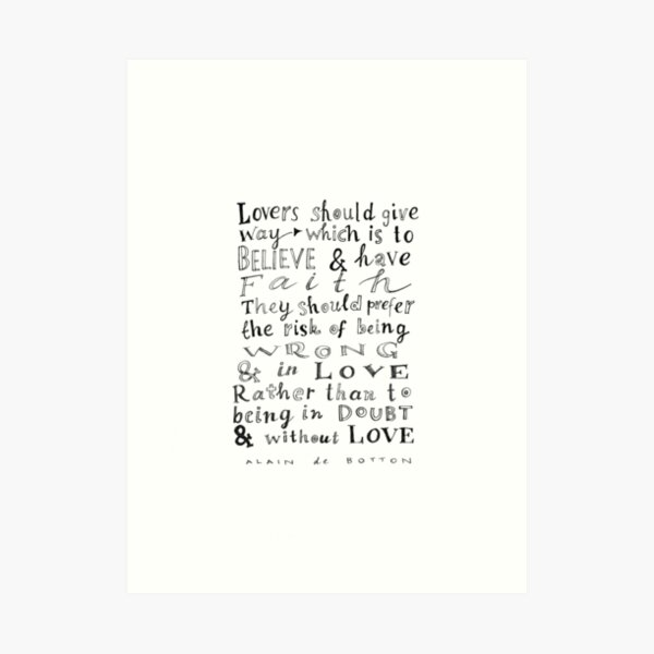 lovers should give way Art Print