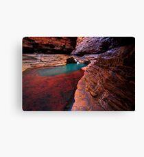 Red Rock Paradise - Kermits Pool - Hancock Gorge - Karijini NP Canvas Print