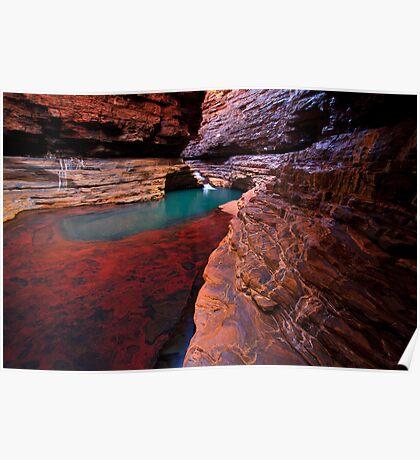 Red Rock Paradise - Kermits Pool - Hancock Gorge - Karijini NP Poster