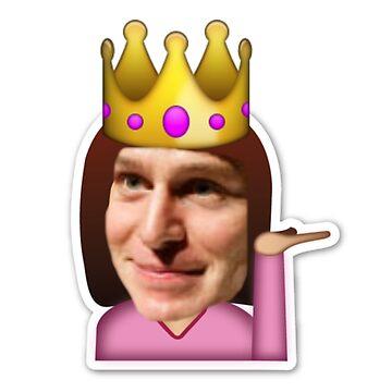 sassy king george emoji by funhomies