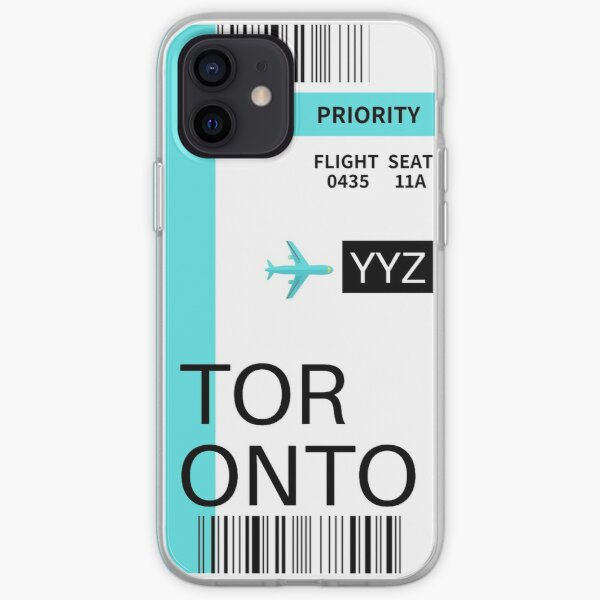 Toronto Boarding Pass iPhone Soft Case