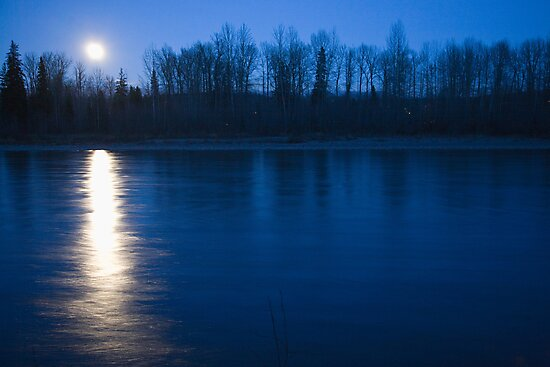 Moonset by Curtis Cunningham