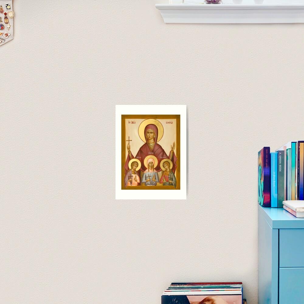 Sts Sophia, Faith, Hope and Love Art Print