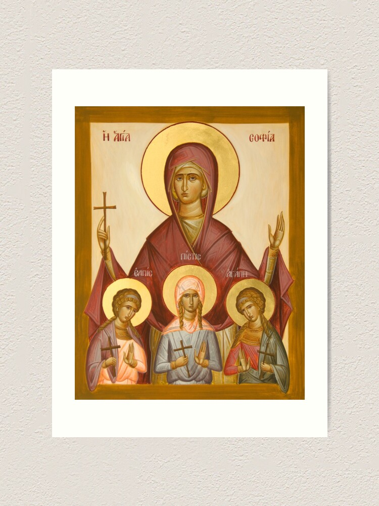 Alternate view of Sts Sophia, Faith, Hope and Love Art Print