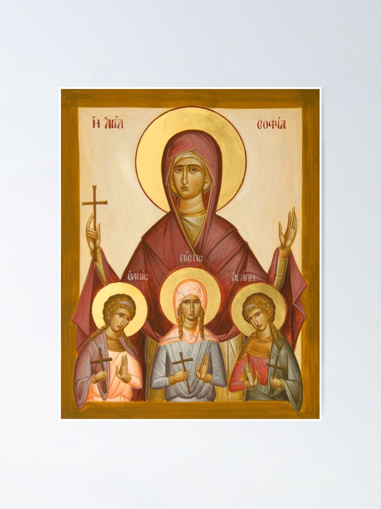 Alternate view of Sts Sophia, Faith, Hope and Love Poster