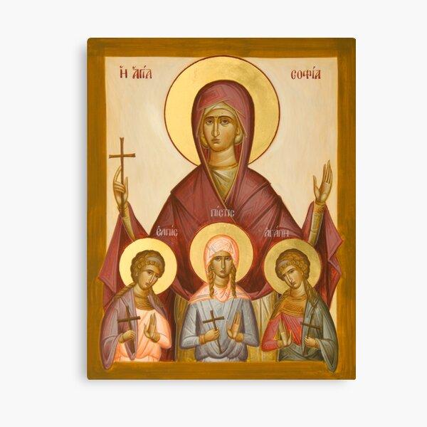 Sts Sophia, Faith, Hope and Love Canvas Print