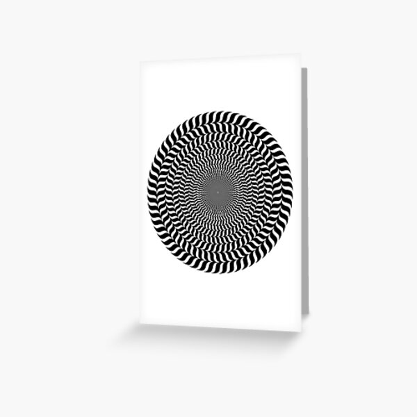 Psychedelic Hypnotic Visual Illusion Greeting Card