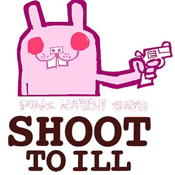 GORILLAZ 2D SHIRT Shoot To Ill Pink Rabbit by pjrossotto