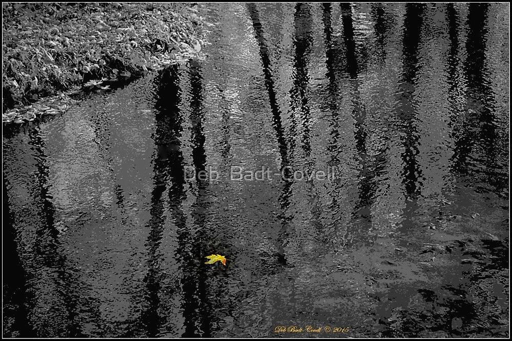 Just One - (Select Color-Focal Black and White) by Deb  Badt-Covell