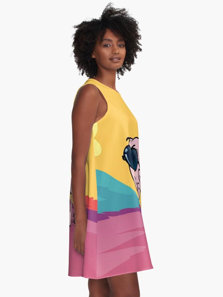 Vista alternativa de Vestido acampanado J&B - Breny fashion
