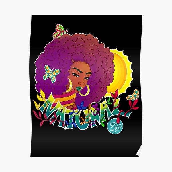 Natural   Black Woman Art Poster