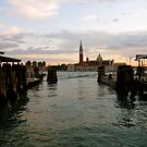 Dusk in the Grand Canal, Venice by Barbara Wyeth