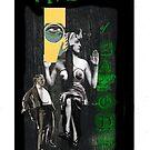 Dada Tarot- Five of Batons by Peter Simpson