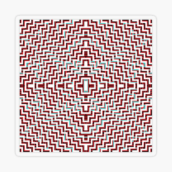 Drawing, Visual art form, Psychedelic Hypnotic Visual Illusion Transparent Sticker