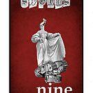 Dada Tarot- Nine of Swords by Peter Simpson
