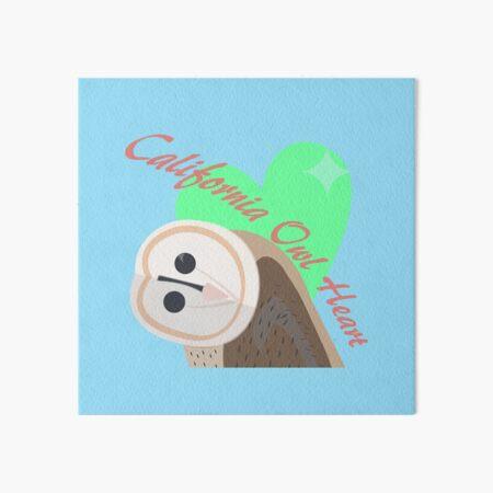 California Owl Heart Art Board Print