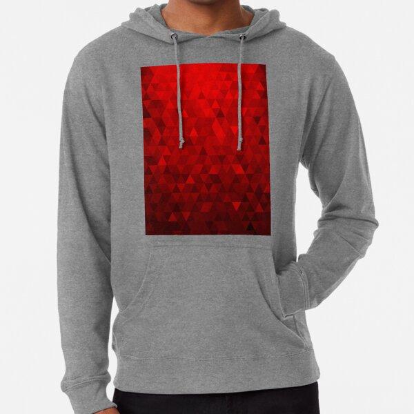 Red Background Triangles Lightweight Hoodie