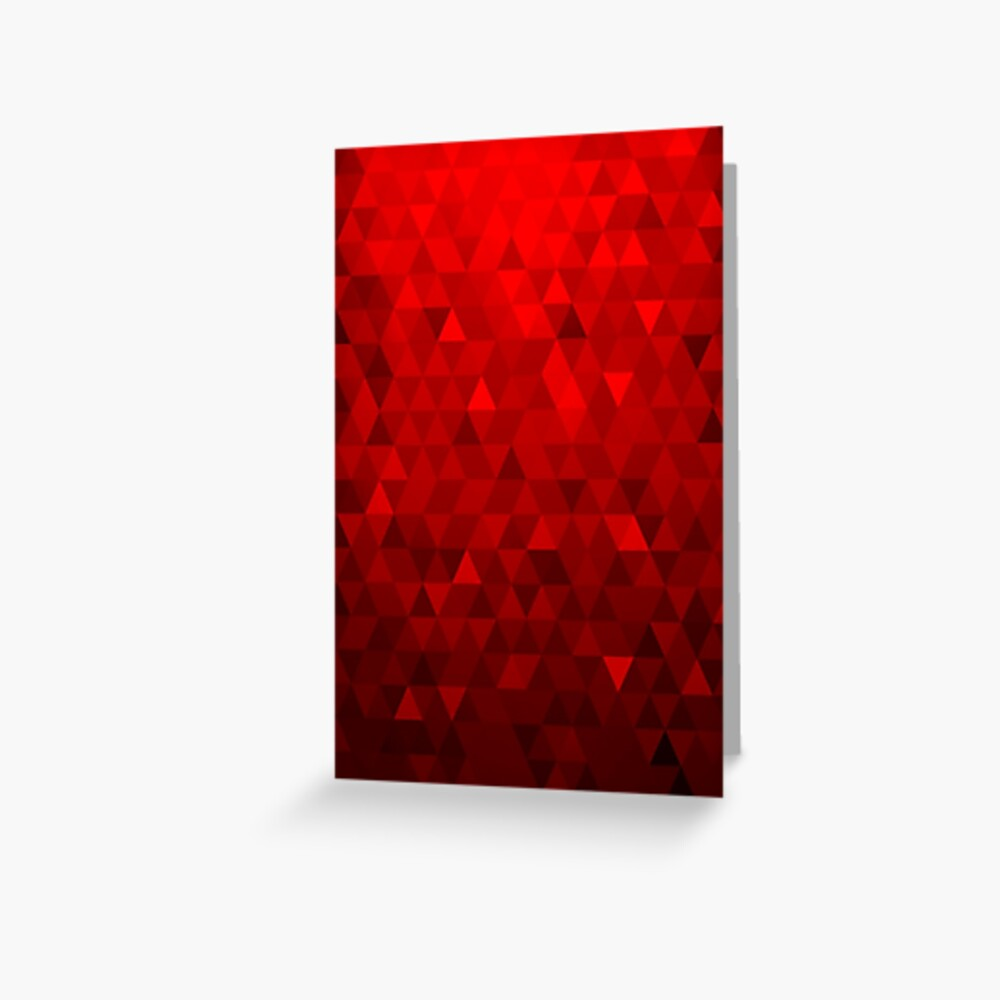 Red Background Triangles Greeting Card