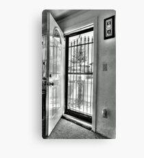 The open Door-B&W version Canvas Print