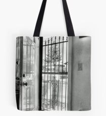 The open Door-B&W version Tote Bag