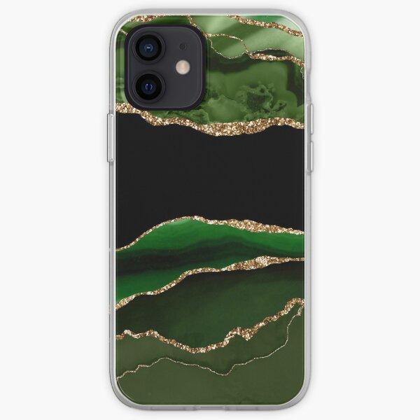 Emerald Green Malachite Marble iPhone Soft Case