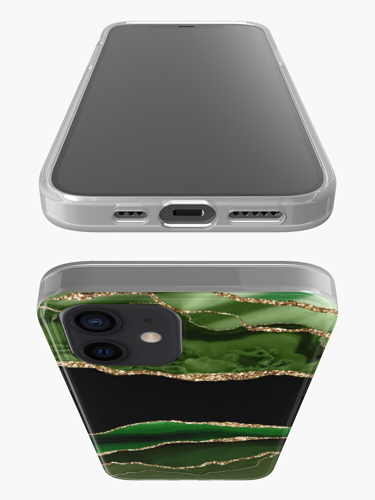 Alternate view of Emerald Green Malachite Marble iPhone Case & Cover