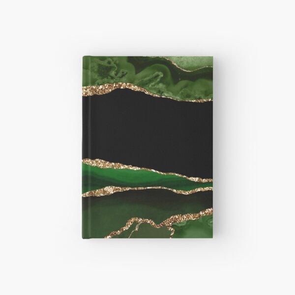 Emerald Green Malachite Marble Hardcover Journal