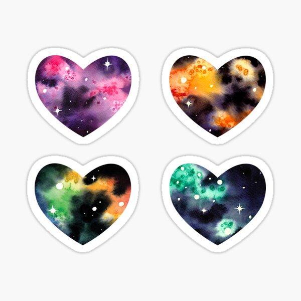 Space Heart Quartet Sticker