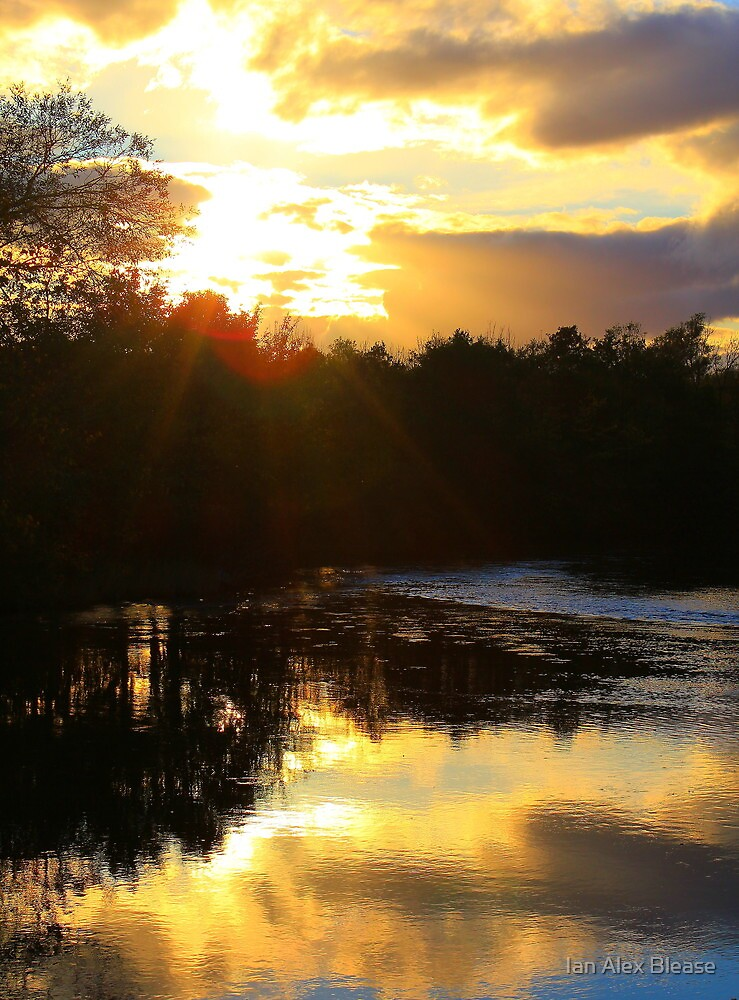 October Sunlight across the River Tees, 16-Oct-2011 ( County Durham, England) by Ian Alex Blease