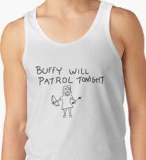Buffy Will Patrol Tonight Men's Tank Top
