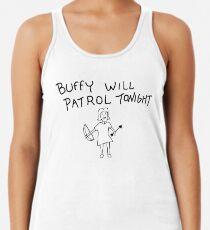 Buffy Will Patrol Tonight Women's Tank Top