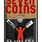 Dada Tarot- Seven of Coins by Peter Simpson