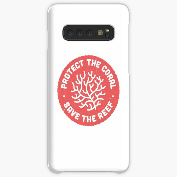 Protect the Coral, Save the Reef. Red Icon.  Samsung Galaxy Snap Case
