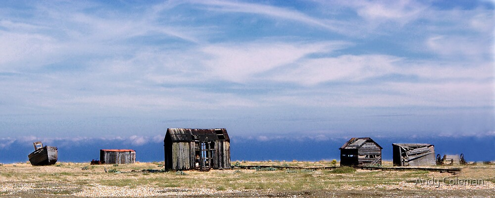 Dungeness Sheds & a Boat by Andy Coleman