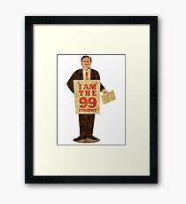 Occupy Wall Street I am 99 percent Framed Print