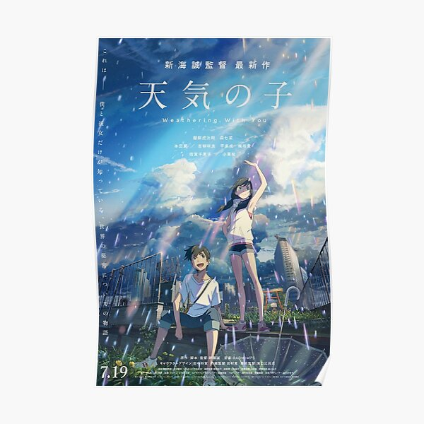 Weathering with you - Hina / Taki Poster