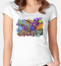 Midnight Garden cycle1 2 Women's Fitted Scoop T-Shirt