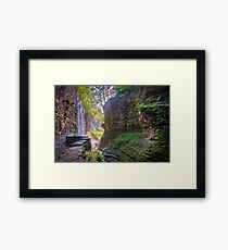 Light Infused Waterfall at Watkins Glen Framed Print