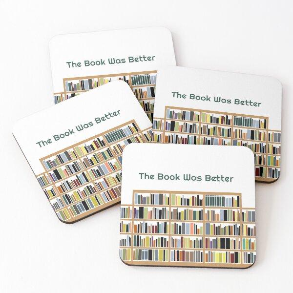 Bookshelf Art  Coasters (Set of 4)